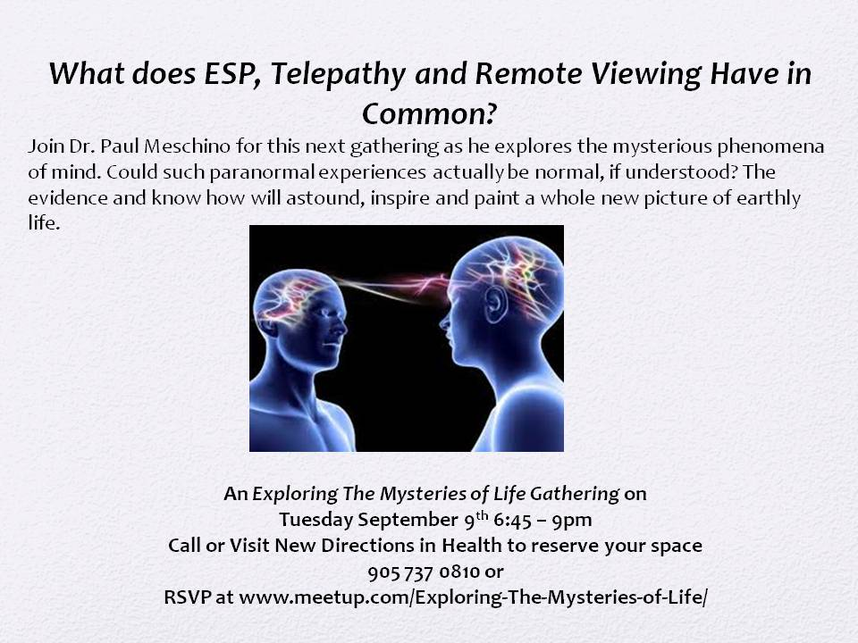 Telepathic Messages, Telepathy, ESP, Extrasensory Perception ...